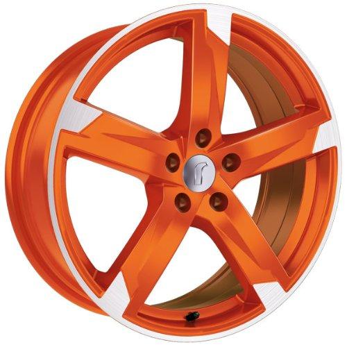1 x Rondell Z Design 01RZ in 7,5 x 17 ET 45 LZ/LK 5 x 114,3 Farbe Racing Orange, poliert für Hyundai ix35 Typ ELH, LM