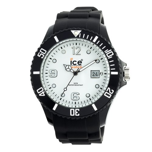 Ice-Watch Ice-White Black Strap Big Silicone Watch  SI.BW.B.S