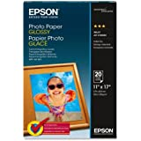 Epson Photo Paper GLOSSY (11x17 Inches, 20 Sheets) (S041156)