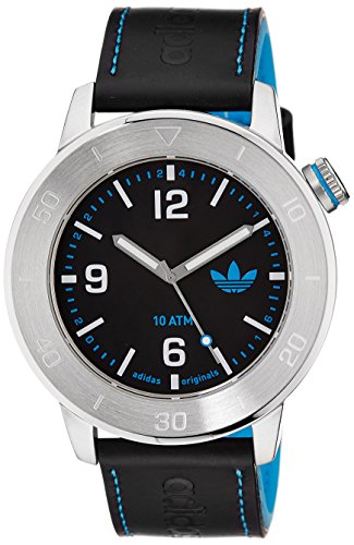 adidas-Unisex-ADH2972-Manchester-Stainless-Steel-Watch-With-Black-Leather-Band