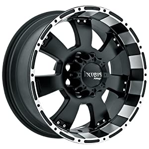 Incubus Krawler 17×9 Black Wheel / Rim 6×5.5 with a 12mm Offset and a 110.00 Hub Bore. Partnumber 815790655+12FBLM