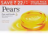 #7: Pears Pure and Gentle Soap Bar, 125g (Pack of 3, Now at Rupees 22 off)