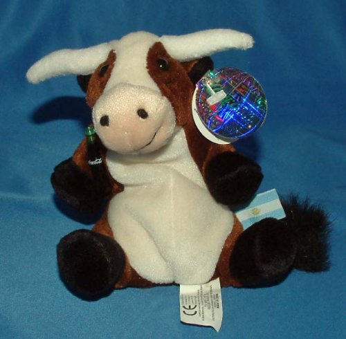 Coca-Cola Bean Bag Plush Vaca Long Horn Cow representing Argentina - 1