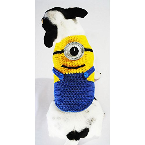 Minions-Despicable-Me-Dog-Costumes-Minion-Stuart-Pet-Halloween-Costumes-3d-Funny-Handmade-Crochet-Chihuahua-Puppies-Small-Medium-Large-Dogs-Dk997-Myknitt-Free-Shipping