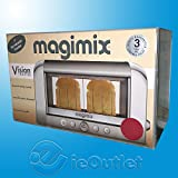 NEW MAGIMIX 2-SLICE 1500 WATT COLORED VISION COMMERCIAL GRADE TOASTER - REDGY#583-4 6-DFG264536
