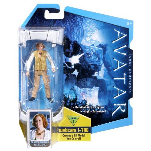 Buy Low Price Mattel James Cameron's Avatar Highly Articulated Detailed 4 Inch Tall Movie Replica Action Figure – Dr. Grace Augustine with Level 1 Webcam i-Tag (R2299) (B004NKU8N2)
