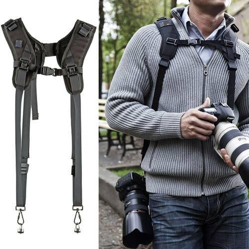 Universal-Generic-HEAVY-DUTY-Double-Sling-Strap-for-Two-DSLRs-Camera-Strap-Carries-2-Cameras-or-2-Lenses-vertically-for-NIKON-CANON-SONY-PANTEX-Nikon-D5000-D5100-D5200-D7000-D7100-D3000-D3100-D3200-D9