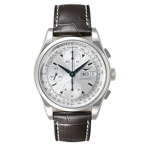 (ロンジン) LONGINES 腕時計 ヘリテージ 1954 クロノグラフ L2.747.4.92.4 シルバー メンズ [並行輸入品]