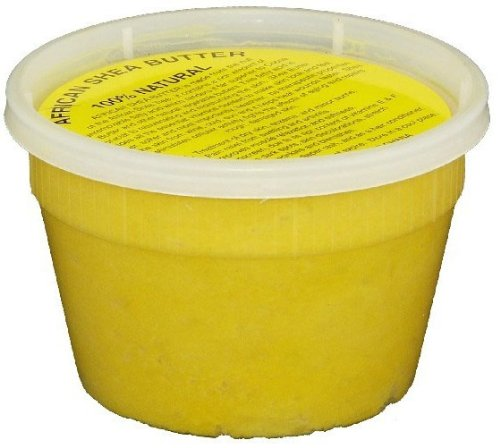 Raw Unrefined CREAMY FILTERED Shea Butter AND 1 Lb of Raw Black Soap