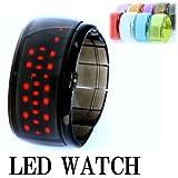 2011爆発的人気のLEDデジタルバングル腕時計/近未来進化系【ブランドBeauty shark】腕時計【デジタル】全10色LED-BK