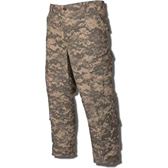 Tru-Spec Army Combat Uniform Pant 50/50 Nylon Cotton Rip-Stop in ACU - X-Small Short