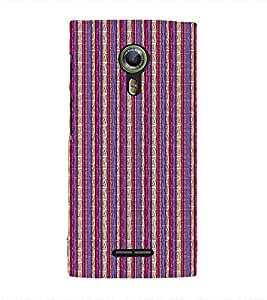 EPICCASE purple and pink straights Mobile Back Case Cover For Alcatel One Touch Flash 2 (Designer Case)