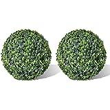 2 pièce de boule artificiel plante intérieur extérieur 36 cm