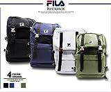 FILA フィラ メタルバックル バックパック FM2024 ガチャロック デカリュック リュックサック デイバック フロントポケット あり カジュアル フラップ付きリュック