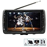 Portable 7 Inch LCD Digital HD Television TV - ATSC/NTSC Tuner USB SD Slots (Color: black, Tamaño: 7 inches)