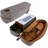 Tuff-Luv Herringbone Tweed NFC Travel Case For Bose Sound Link Mini / Mini II With NFC Tag - Brown