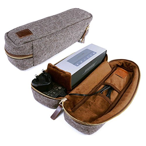 tuff-luv-herringbone-tweed-nfc-travel-case-for-bose-soundlink-mini-mini-ii-with-nfc-tag-brown