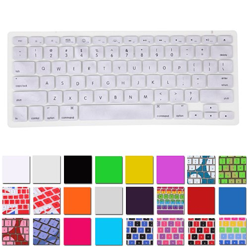 Hde Silicone Rubber Keyboard Skin For Macbook Pro (Non-Retina) (Silver)