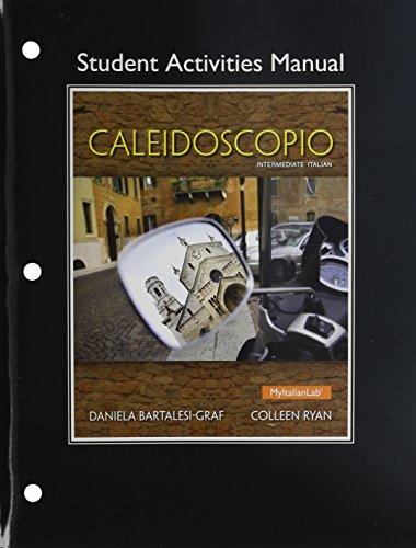 Student Activities Manual for Caleidoscopio