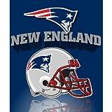 Northwest New England Patriots Gridiron Fleece Throw