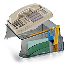 Officemate Telephone Stand, 12.5 x 10.125 x 5.25 Inches, Smoke (21521)