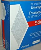 No. 10 Envelopes, 4-1/8 x 9-1/2 Inch, Security, 24lb White Tinted Paper, 500 CT - GFTF10NWT