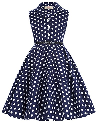 Girl's Vintage Spring Garden Party Cocktail Picnic Dresses 2# 11yrs (Girls Vintage Dress compare prices)