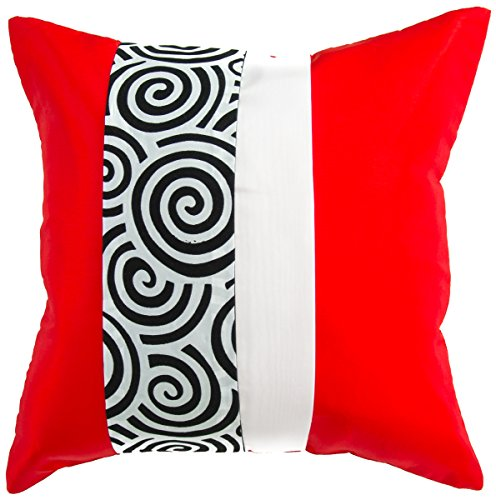 Avarada striped spiral throw pillow cover decorative sofa for Sofa cushion covers 24x24