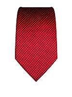 Vincenzo Boretti Corbata Seda Krawatte Aus Reiner Seide, Gepunktet (Rojo)
