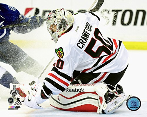 """Corey Crawford Chicago Blackhawks 2015 Stanley Cup Finals Game 5 Action Photo (Size: 8"""" x 10"""")"""