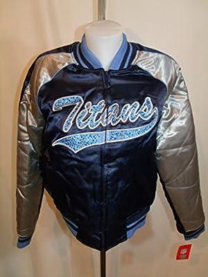 Tennessee Titans Embroidered Rhinestone Jacket Coat Large