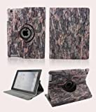 SPRAWL@ 360 Degrees Rotating PU Leather Cover Flip / Stand case With Auto-Sleep Function for Apple Ipad 2 3 4 with Fashion Designed -Decay Tree Pattern