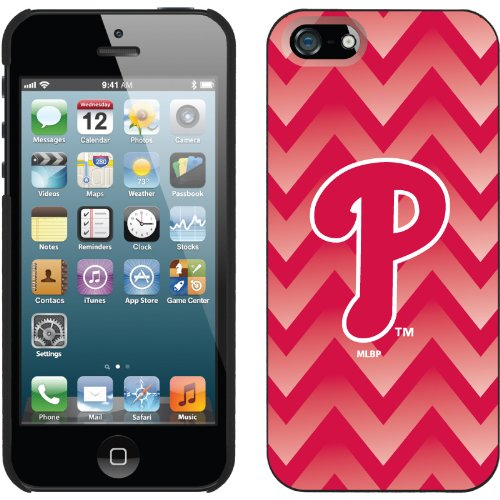 Special Sale Philadelphia Phillies - Gradient Chevron design on a Black iPhone 5s / 5 Thinshield Snap-On Case by Coveroo