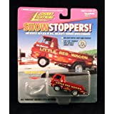 "BILL ""MAVERICK"" GOLDENS LITTLE RED WAGON Johnny Lightning 1997 SHOWSTOPPERS 1:64 Scale Die Cast Vehi"