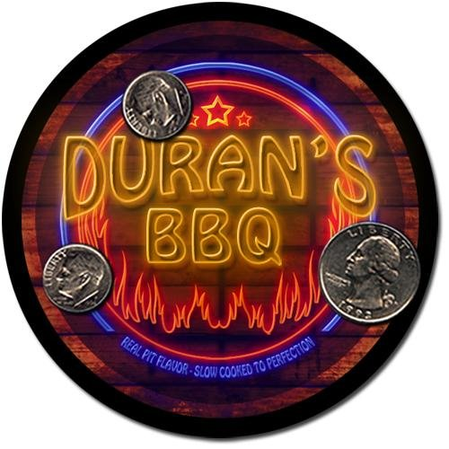 Duran'S Barbeque Drink Coasters - 4 Pack