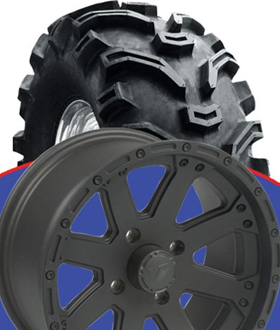 ALL-ALL KAWASAKI MULE 500/600/610 159 BLACK WHEEL KIT ON 25