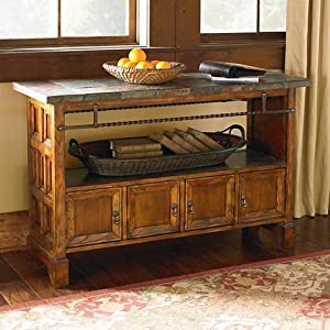 elway home collection console table antique