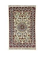 L'Eden del Tappeto Alfombra Kashmirian F/Seta Multicolor 62 x 99 cm