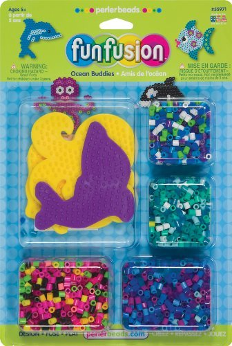 Perler Beads Ocean Buddies Fused Bead Kit - Perler Beads Ocean Buddies Fused Bead Kit