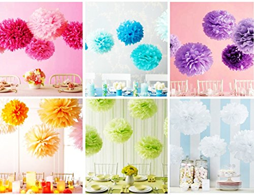 JIN SELF [ready] super large pieces! Paper flower decoration decorations wedding birthday party event wedding anniversary photo shooting color colorful 25 cm (blue)