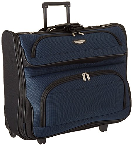Traveler's Choice Amsterdam Business Rolling Garment Bag in Navy (Garment Travel Bag On Wheels compare prices)