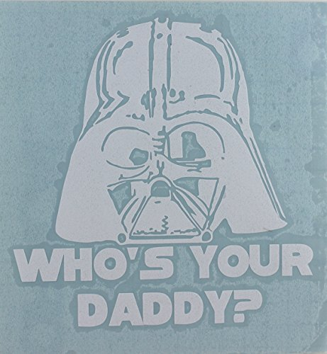 C&D Visionary Star Wars Who's You Daddy Rub-On Sticker, White