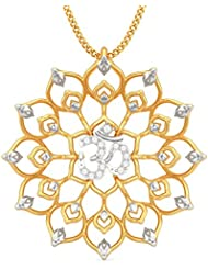 BlueStone 18k Yellow Gold And Diamond Vita Om Pendant
