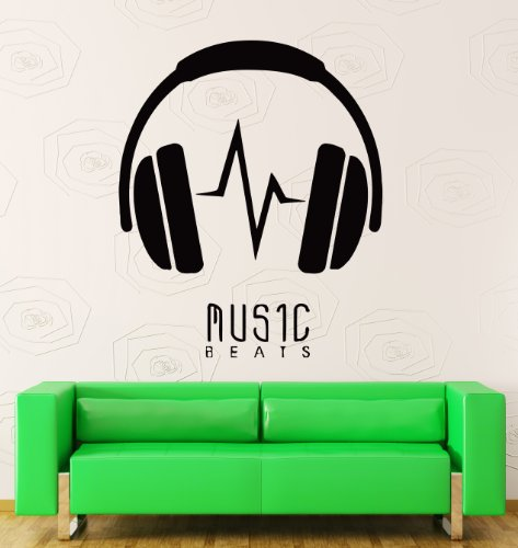 Wall Stickers Vinyl Decal Music Beats Headphones Decor For Living Room (Z1184I)
