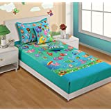 Swayam Kids N More Digital Print Cotton Single Baby Bedsheet With 1 Pillow Cover - Multicolor (SKB02-187)