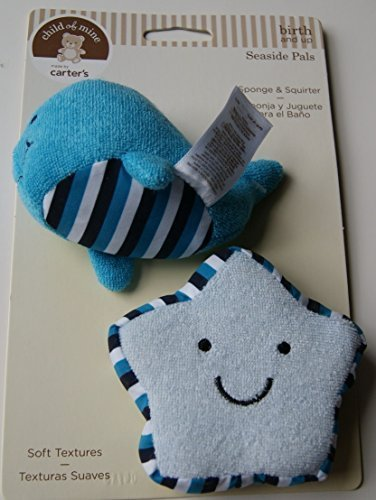 Child of Mine Seaside Pals Bath Set - Sponge & Squirter - Blue - 1