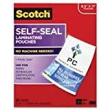 Self-Sealing Laminating Sheets, 9.5 mil, 8 1/2 x 11, 25/Pack