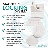 Dr-Safety-Baby-Magnetic-Locks-for-Cabinets-Drawers-Self-Sticking-3M-Adhesive-Easy-Baby-Proofing-Wont-Damage-Furniture-Includes-8-Child-Safety-Locks-2-Keys-32-Optional-Screws-Drill-free