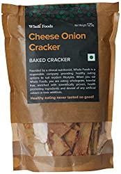 Whole Foods Cheese Onion Cracker, 125g