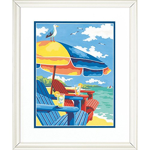 Dimensions Paint Works 73-91528 At the Beach Paint by Number Kit